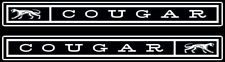 ●COUGAR QUARTER PANEL EMBLEM●1967 Mercury Cougar Badge Emblem●All Aluminum