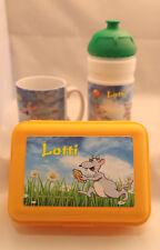 Lotti-Leseratte/ Konvolut 3 teilig/ Brotdose+Trinkflasche+Keramiktasse/ovp