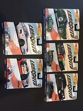 Hot Wheels EURO SPEED 5 Car Set Mercedes 190E Alfa GTA AUDI R8 BMW M1 Porsche GT