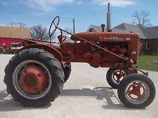 Farmall 100 tractor w/ IH rockshaft arms hydraulics straight tin Chrome emblems