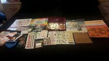 HUGE LOT SCRAPBOOKING EMBELLISHMENTS 12X12 PAPERS, STAMPS  EMBOSSER HEIDI SWAPP