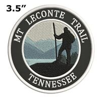 Mt. Leconte Trail Tennessee Embroidered Iron / Sew-On Patch Vacation Souvenir