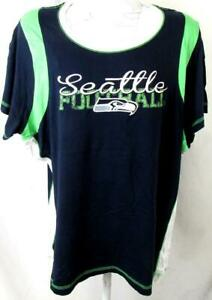 """Seattle Seahawks Women Plus Size 3X Screened """"SEATTLE FOOTBALL"""" T-shirt ASSE 150"""