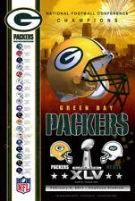 Rare Green Bay Packers SUPER SEASON 2010-2011 NFC CHAMPIONS Commemorative Poster