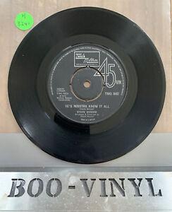 "Stevie Wonder - Tamla Motown -""Hes Misstra know it all"" Original TMG892"