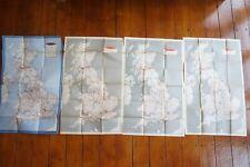 1953 1954 1955 1956 British Railways UK British Isles National Railway Map x4