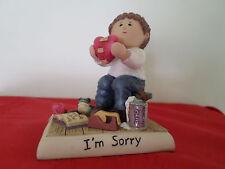 "Zingle Berry 1998 ""I'm Sorry"" Figurine by Pavilion Gift Co. HANDSIGNED"