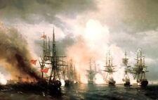 Art Oil Ivan Constantinovich Aivazovsky - Naval battle near Sinop - Big ships
