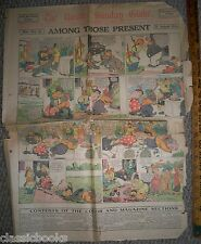 Boston Globe Comics August 23, 1914 Rare Find Capt and The Kids