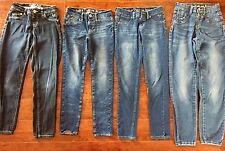 HUGE LOT GIRLS JEANS SIZE 10 10R ALL JUSTICE Back To School Skinny Free Shipping