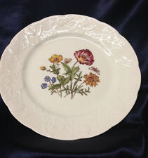 """LIERRE SAUVAGE CNP WILDFLOWERS OF FRANCE SALAD PLATE 8"""" EMBOSSED GRAPES RIM E"""