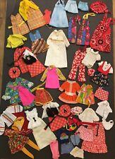 Large lot of vintage 1960s & 1970s Skipper & Fluff clothing Mod Barbie