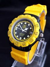 Vintage Tag Heuer Formula 1 model 380.513 rare yellow version NEW BATTERY