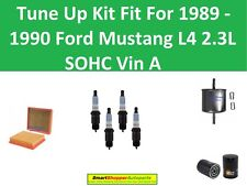Fuel Oil Air Filter, Spark Plug Fit To Tune Up 1989 19990 Ford Mustang L4 Vin A