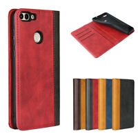 For Huawei P smart Luxury Magnetic Two-tone Leather Wallet Flip Case Cover
