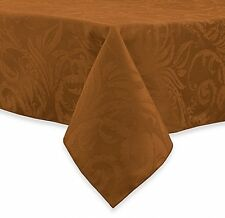 Autumn Tablecloth Bronze Thanksgiving Scroll Table Decorations 60 In x 104 In