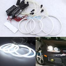White CCFL Angel Eye Halo Ring Retrofit Headlight For R32 GTI Rabbit VW Golf MK5