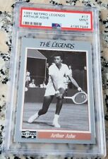 ARTHUR ASHE 1991 Netpro Tennis Legends Card RARE PSA 9 MINT $$ HOF Grand Slam $$
