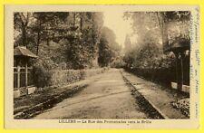 CPA RARE France 62 - LILLERS La Rue des PROMENADES vers le MANOIR du BRÛLE