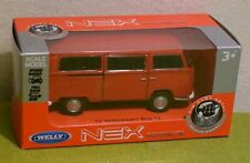 DIE CAST METAL WELLY SCALE MODELS 72 VOLKSWAGEN BUS T2