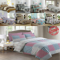 Duvet Quilted Cover with 2 pillow Shams Fitted Sheet Egyptian Cotton Bedding Set
