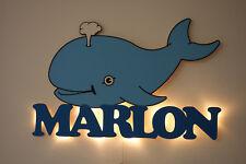 Schlummerlicht Wal mit Wunschnamen