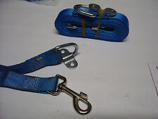 Lot of 2 Dog/Pet Leash Lanyard Mountable/Portable LONG 14-1/2' w/Attach Bracket