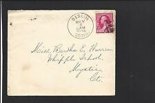 """BERLIN, CONNECTICUT COVER,1894 #220 FANCY CANCEL. """"HARTFORD COUNTY 1799/1956"""""""