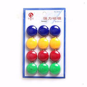 Round Magnets Fridge Memo Button Magnet 2cm Whiteboard 1, 12, 24