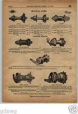 1913 PAPER AD 4 PG New Morrow Corbin Lester New Departure Bicycle Coaster Brake