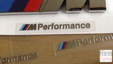 2x Logo Stickers BMW ///M Performance Emblème Autocollants Emblem Emblema Sport