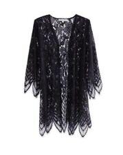 Almost Famous Black Plus Size 3/4 Kimono Sleeve Cardigan 2X Nwt