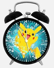 """Pokemon Pikachu Alarm Desk Clock 3.75"""" Home or Office Decor Z66 Nice For Gift"""
