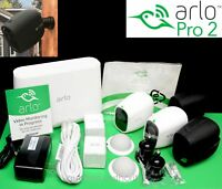 COMPLETE 2 NEW ARLO PRO 2 Netgear 1080p HD Wireless Security Camera Kit EXTRAS