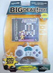 SALE DreamGear Big Deal Pak PS1 PlayStation Puzznic Game/Controller NEW DGP-300