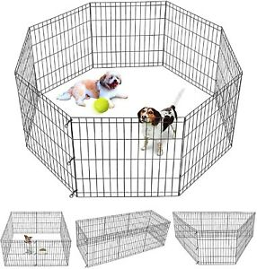 Jaula Corral Corralito Para Perros Gatos Mascotas Interiores Exterior 24''x24''