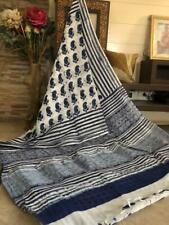 New Latest Linen Saree Hand Block Bagru Printed Linen Mumal Saree With Blouse