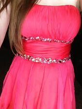 EUC Womens S 4 Semi-Formal LA FEMME Rhinestone Homecoming Prom Dress Hi-Low