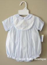 NWT Petit Ami Blue Sailboat Bib Romper Newborn Hat Baby Boys Bubble