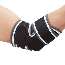 Premium Elbow Support Strap Sleeve for Elbow Injury & Sport Golf Tennis Black