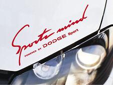 Sports Mind Sticker fits Dodge Charger Viper SRT RAM Durango Emblem Logo R