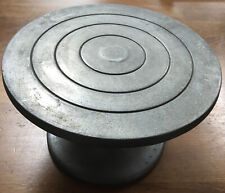 """More details for vintage pre 1974 nbs metal cake decoration turn table diameter 9.5"""" height 5.5"""""""