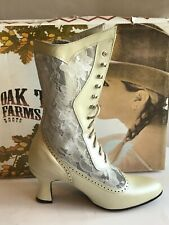 Victorian Ivory Boots, Vespers by Oak Tree, Size 6, 6,5, 7.5