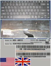 Tastiera Qwerty US Int ACER AS4741G 4741G NSK-AM21D 9ZN1P8221D KB.I140A.229 Nero
