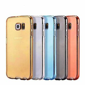 For Samsung Galaxy Shockproof 360° Silicone Protective Clear Phone Case Cover