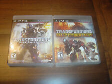 Transformers: Fall of Cybertron & Dark of the Moon Bundle Lot (PlayStation 3)