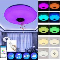 36W Bluetooth Speaker Ceiling Light LED Music Remote Control RGB Lamp KTV Home