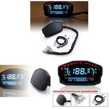 Motorcycle LCD Digital Tachometer Speedometer Odometer Oil Level Gauge Gear 1-6
