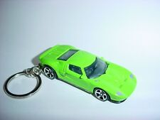 NEW 3D GREEN 2005 FORD GT CUSTOM KEYCHAIN keyring key gt RACE finish SPEED gear