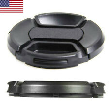 52mm center pinch snap on Front Lens Cap Cover for Canon Nikon w string